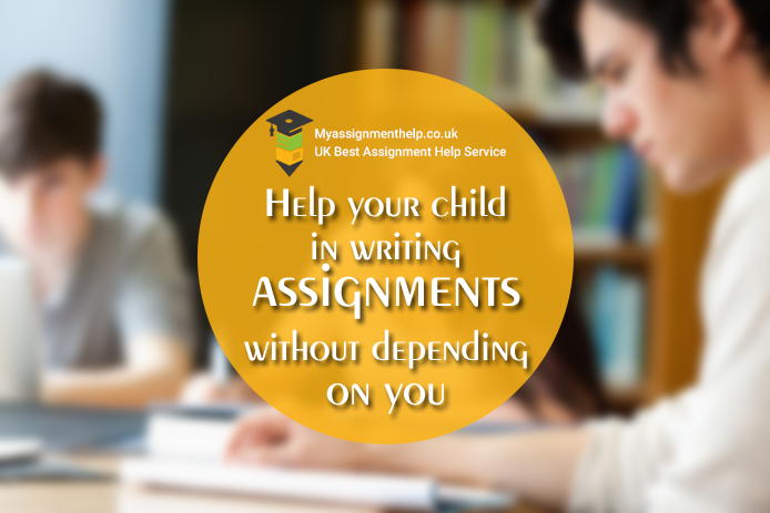 Help child in writing assignments without depending on you